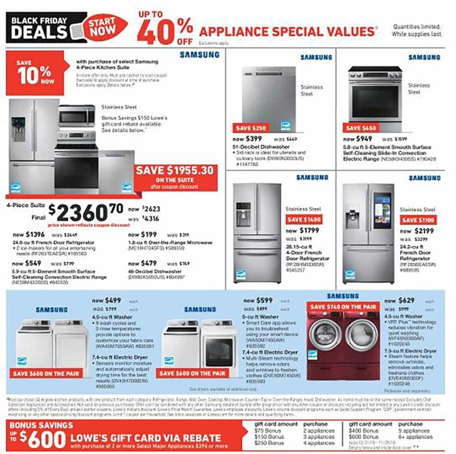 lowes appliance deals black friday