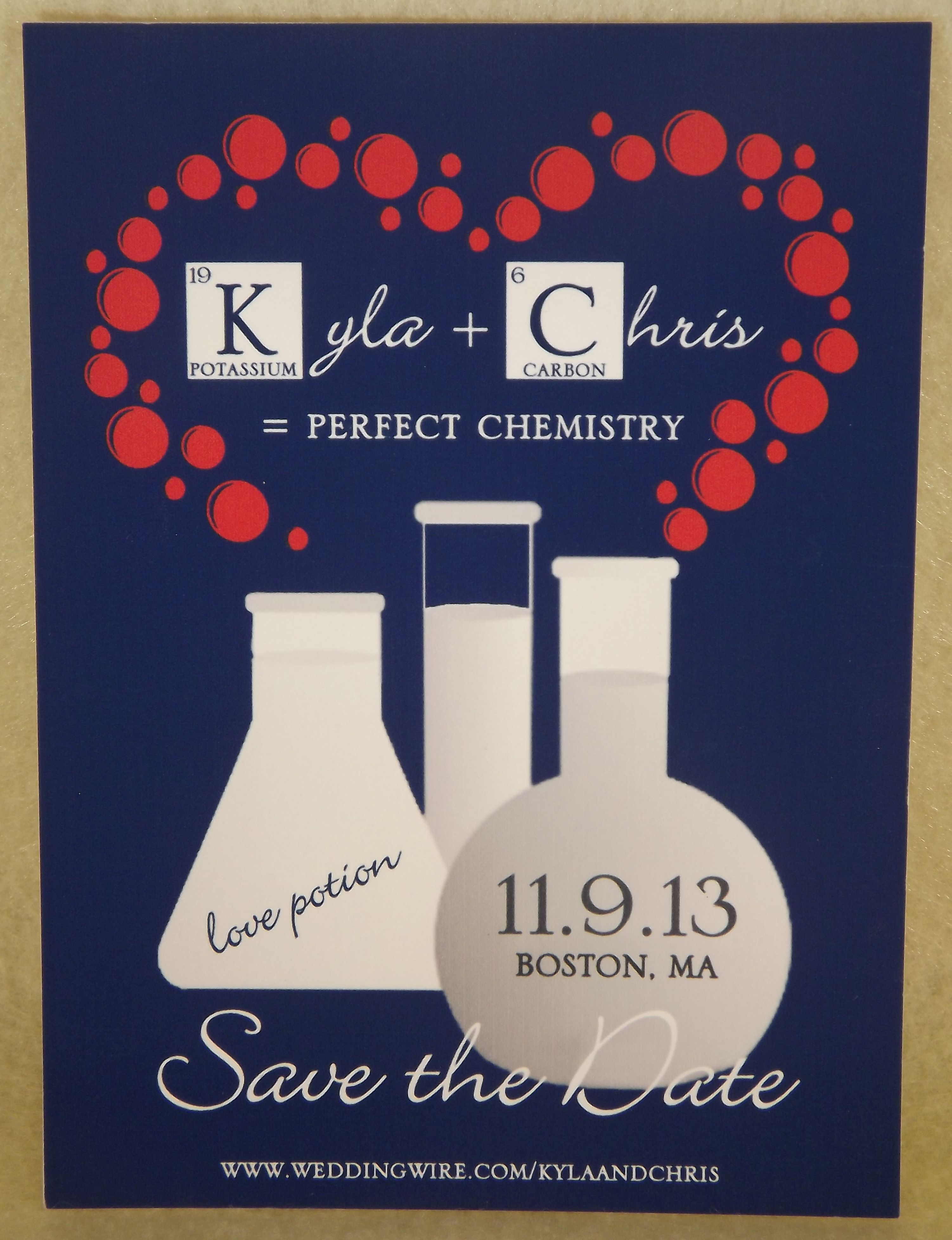 fun chemistry themed | save the dates in 2018 | pinterest | save the