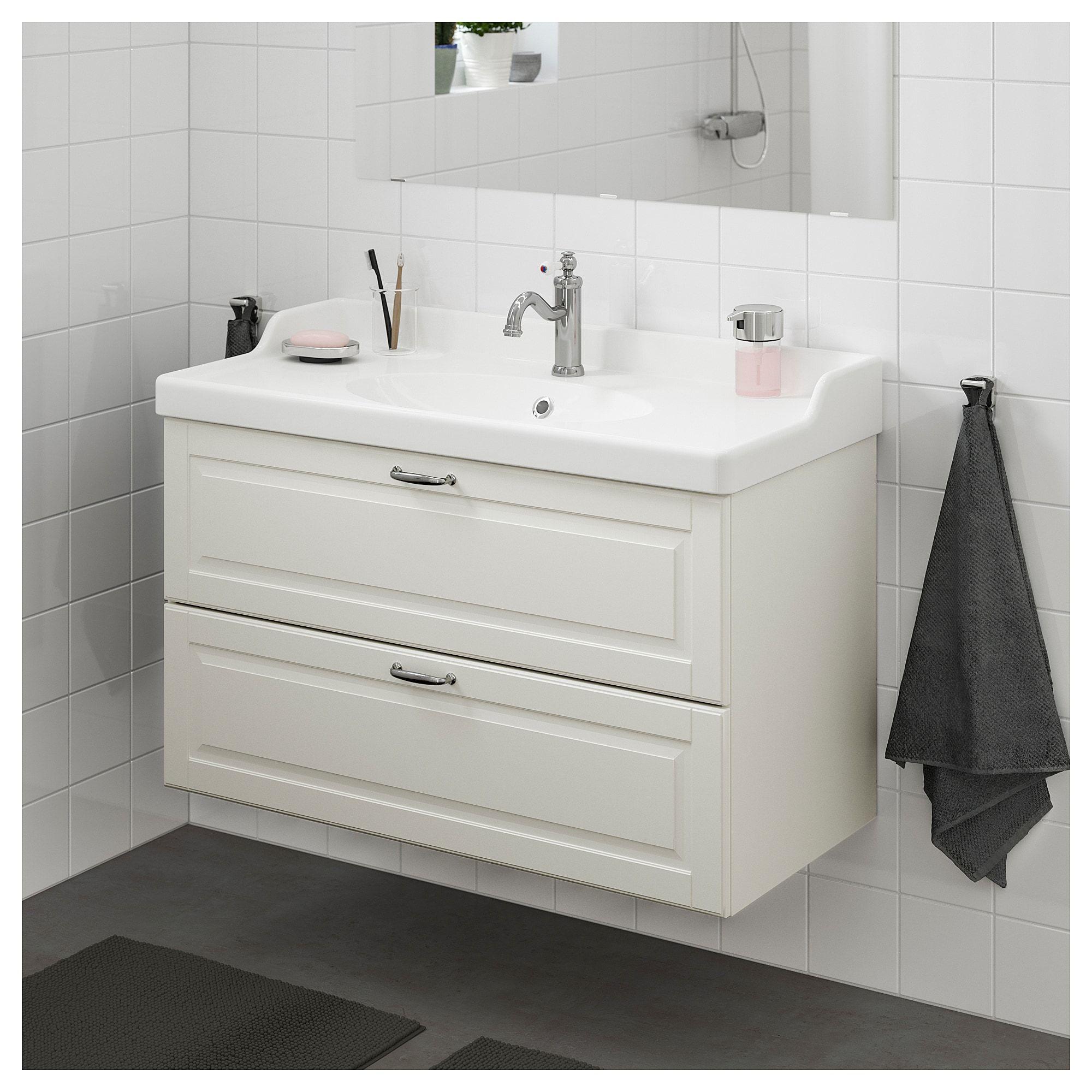 the best attitude 49507 93724 GODMORGON / RÄTTVIKEN Bathroom vanity, Kasjön white | Sink ...