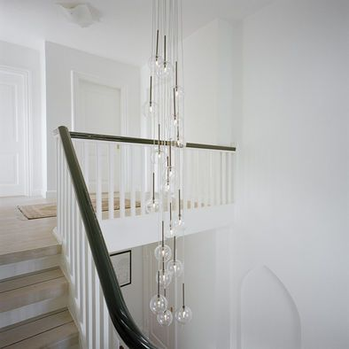 Large Pendant Lighting Stairwell