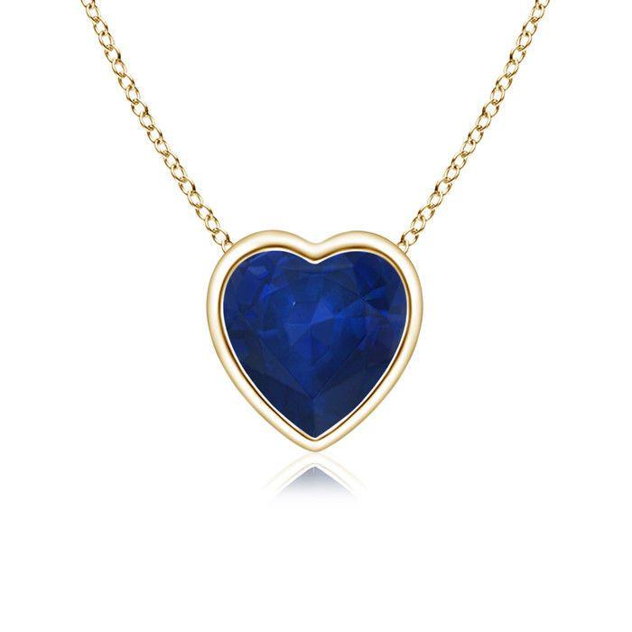 Angara Blue Sapphire Pendant in 14k Rose Gold EELdpitX
