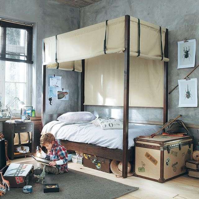 Boys Bedrooms Modern Canopy Bed