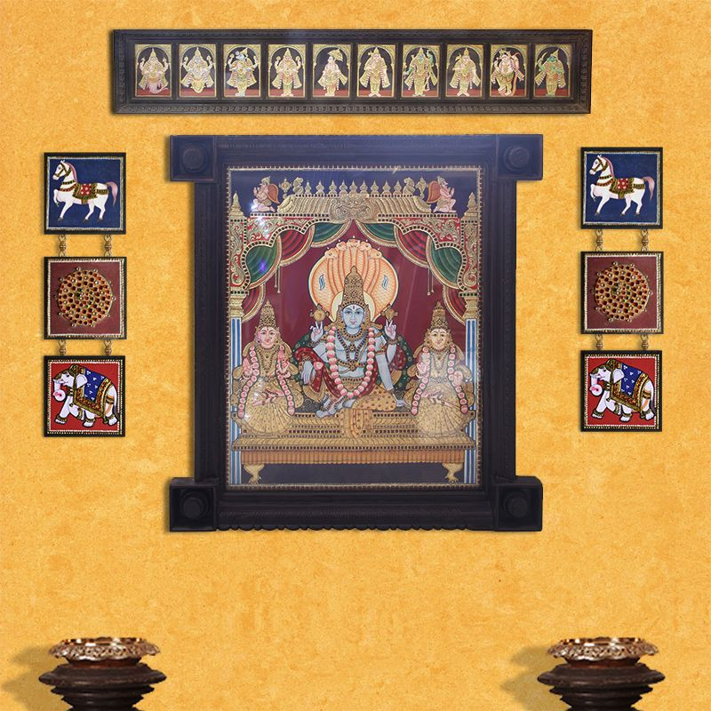 Tanjore Painting Wall Art Indian Wall Art Tanjore Painting Wall Painting