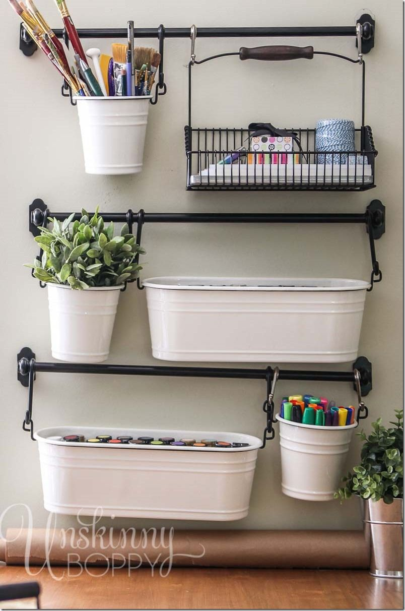 9 Clever Ways To Organize With A Towel Bar Craft Room