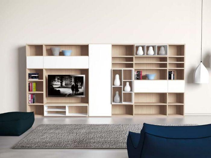 die wei e wohnwand in hochglanz ein lifestyle m belst ck m bel ideen pinterest high. Black Bedroom Furniture Sets. Home Design Ideas