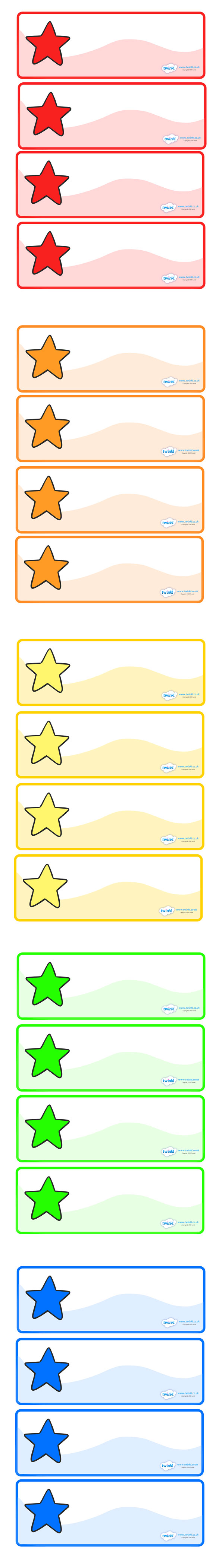 Twinkl Resources Drawer Peg Labels Stars Classroom Printables For Pre School Kindergarten Elementary School An Name Labels Classroom Name Tags Labels