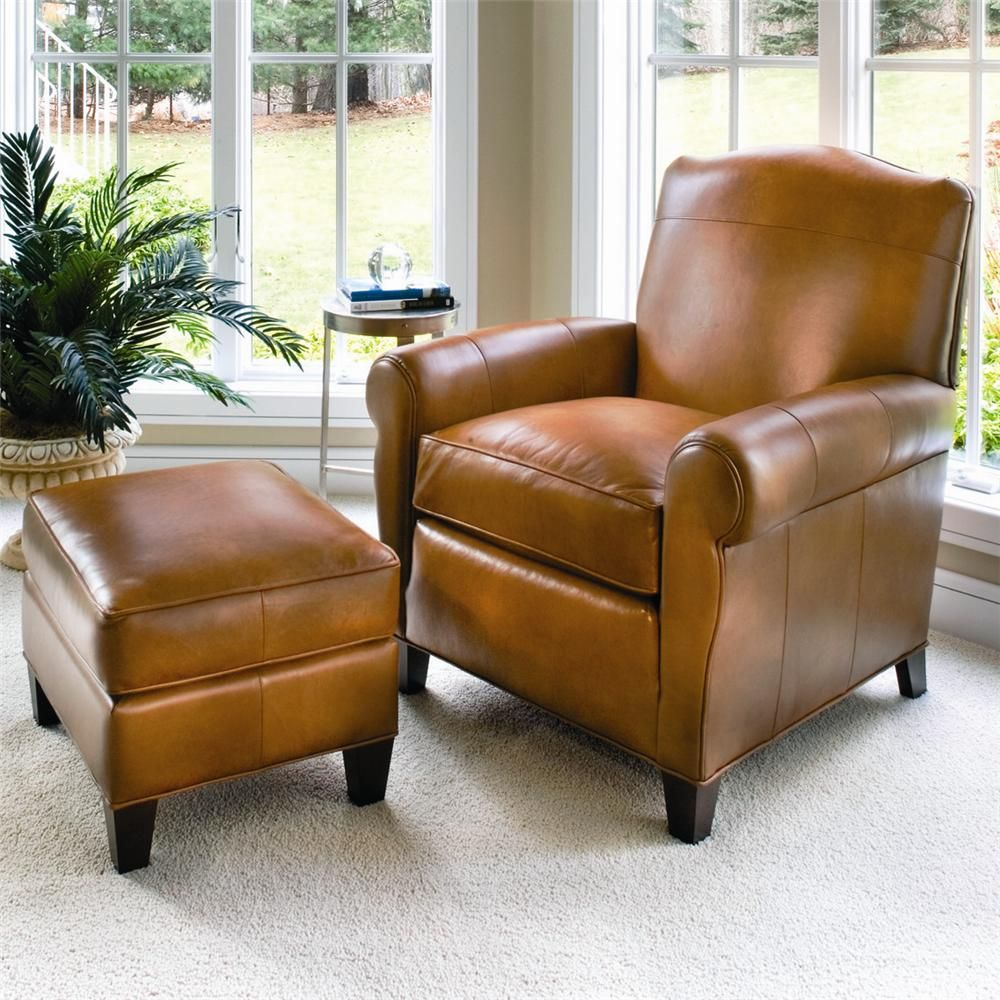 oversized leather chair and ottoman sets
