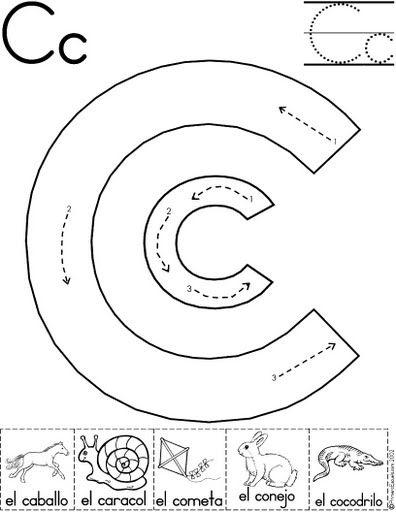 letra c fichas del abecedario y el alfabeto para descargar gratis ...
