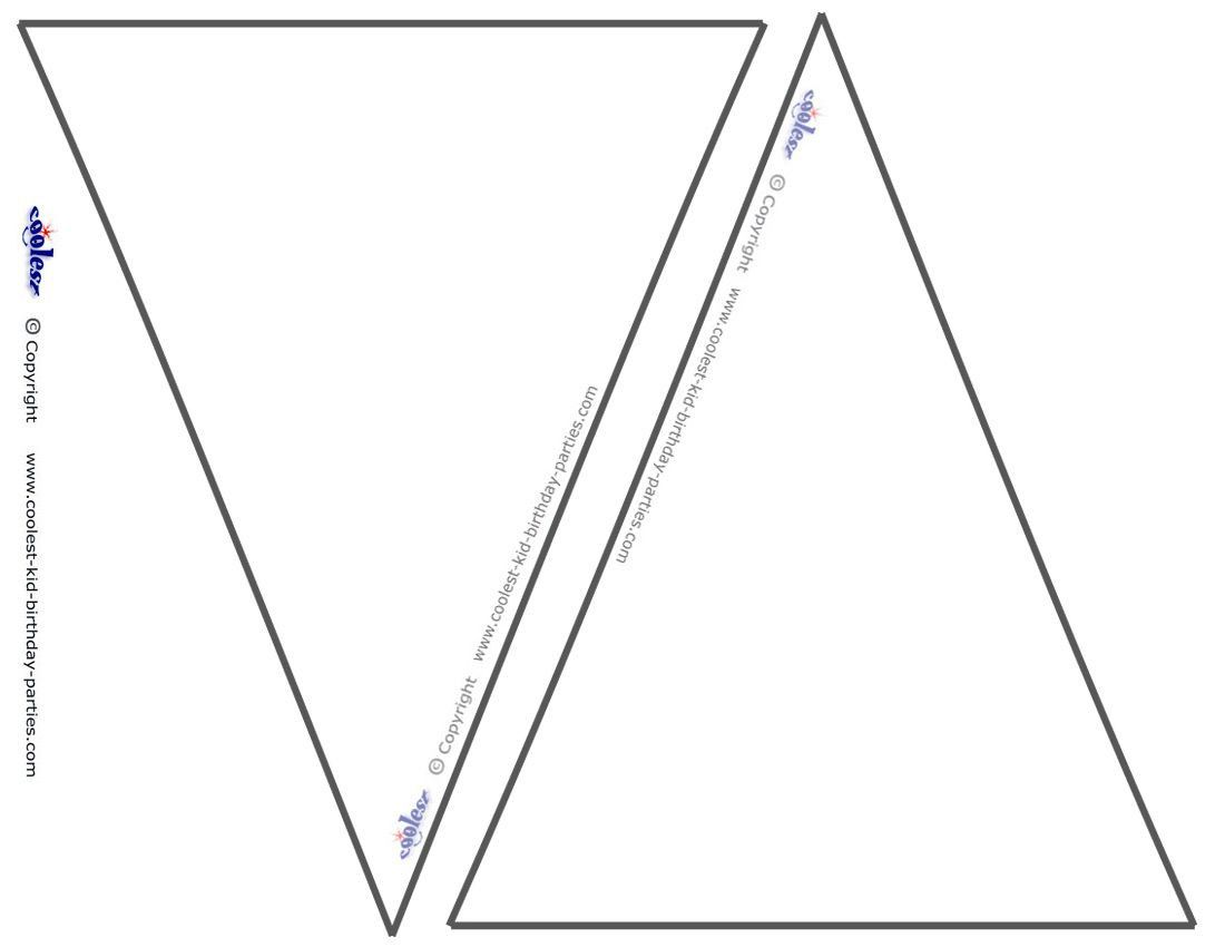Triangle Flag Banner Template Beautiful These Blank