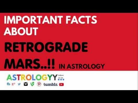 Retrograde Mars Planet Mars Retrograde In Birth Charthoroscope