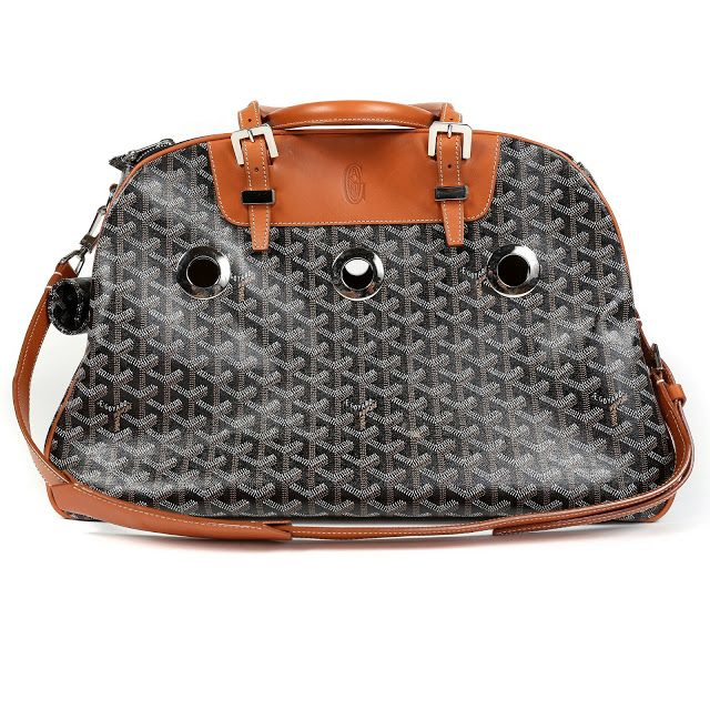 Only $5500...Authentic Goyard Black Monogram Pet Carrier
