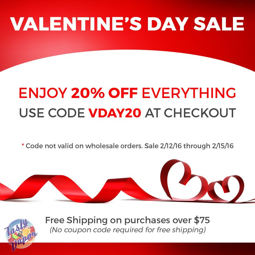 Valentine\'s Day Sale. Enjoy 20% Off Everything. Coupon code: VDAY20 ...