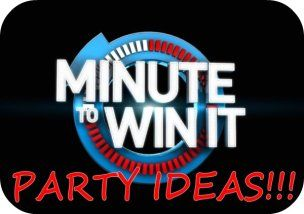 Minute to Win It Party Games, Ideas, and Supplies