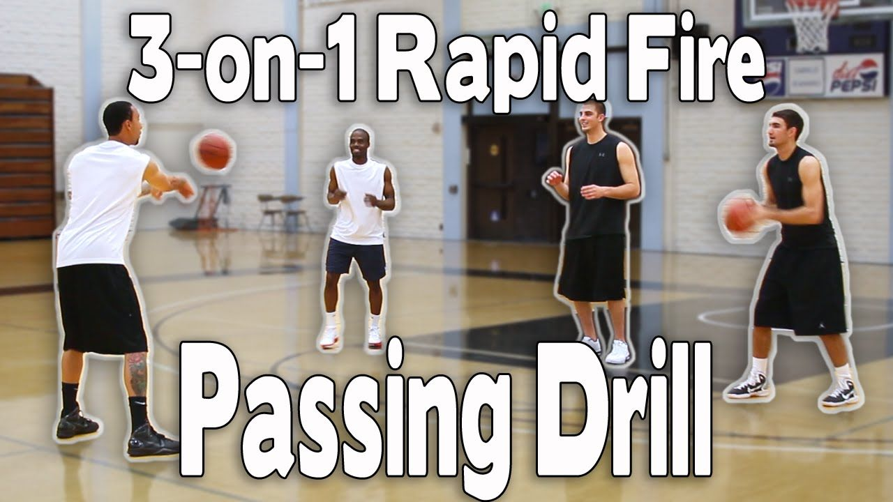 BASKETBALL PASSING DRILL 3on1 RAPID FIRE PASSING