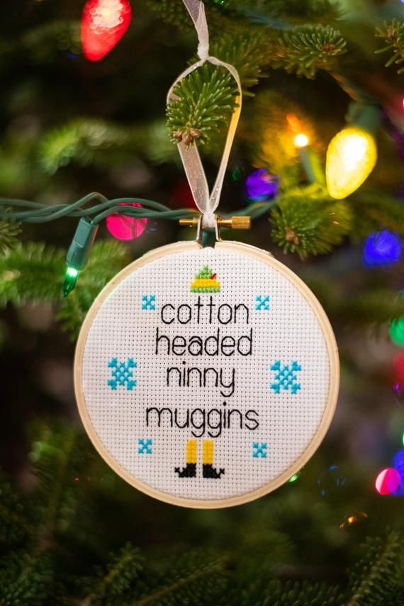 Photo of Cotton Headed Ninny Muggins – Cross Stitch Ornament Pattern *PDF Digital Download*