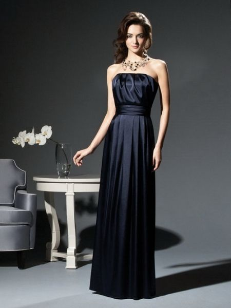 Blau Ballkleid Brautjungfernkleid
