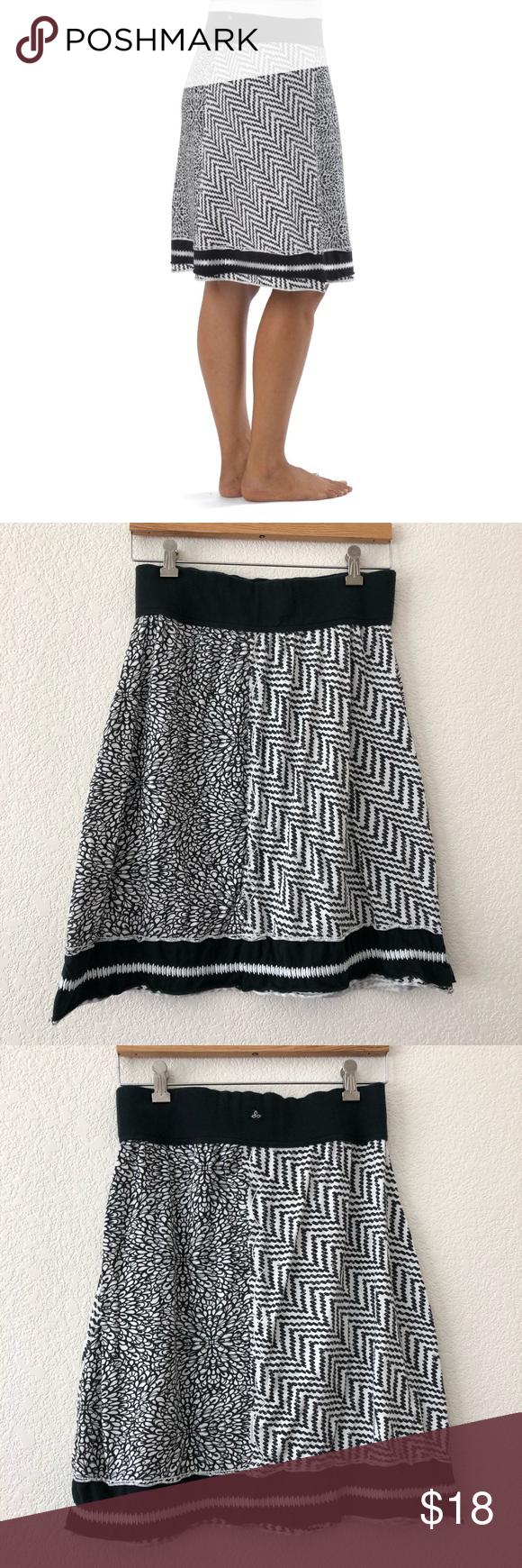414922e105eb Prana   Black & White Athletic Skirt Super cute athletic skirt from Prana!  Floral &