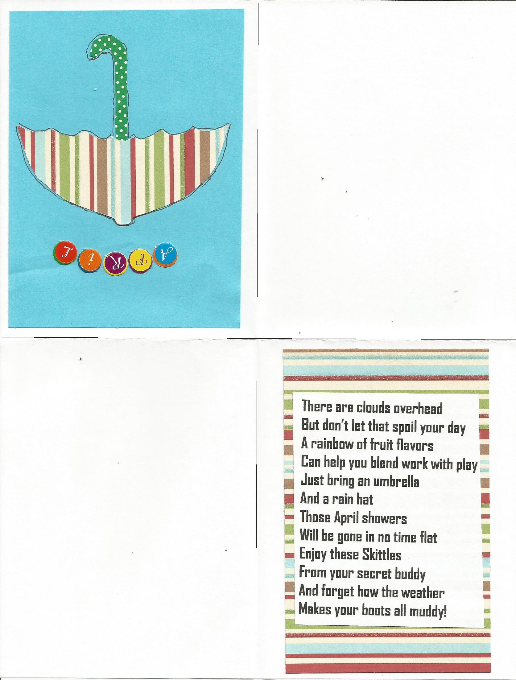 Card Ideas For A Secret Pal