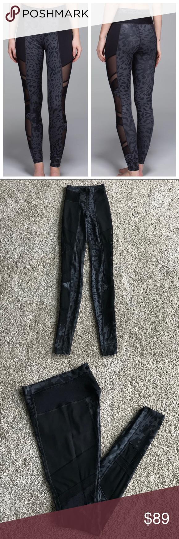 267cf34f6 Lululemon Just Breathe Pants Lululemon Just Breathe Pant Animal Swirl Deep  Coal Light   Black Size 2 -Full-On Luxtreme® fabric is sweat-wicking and  four-way ...