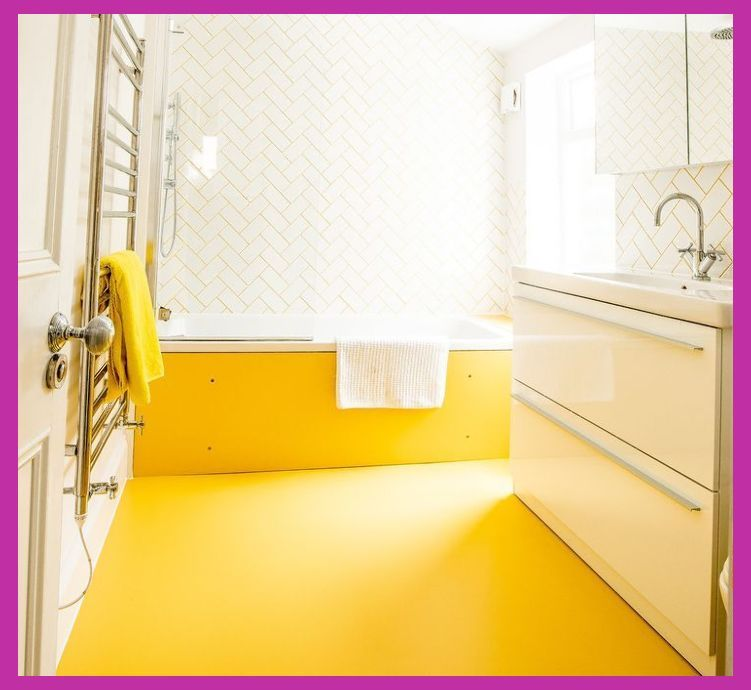 Bathroom Floor Remodel Different Styles And Material Bathroom Remodel Yellow Bathrooms Yellow Bathroom Decor Rubber Flooring Bathroom