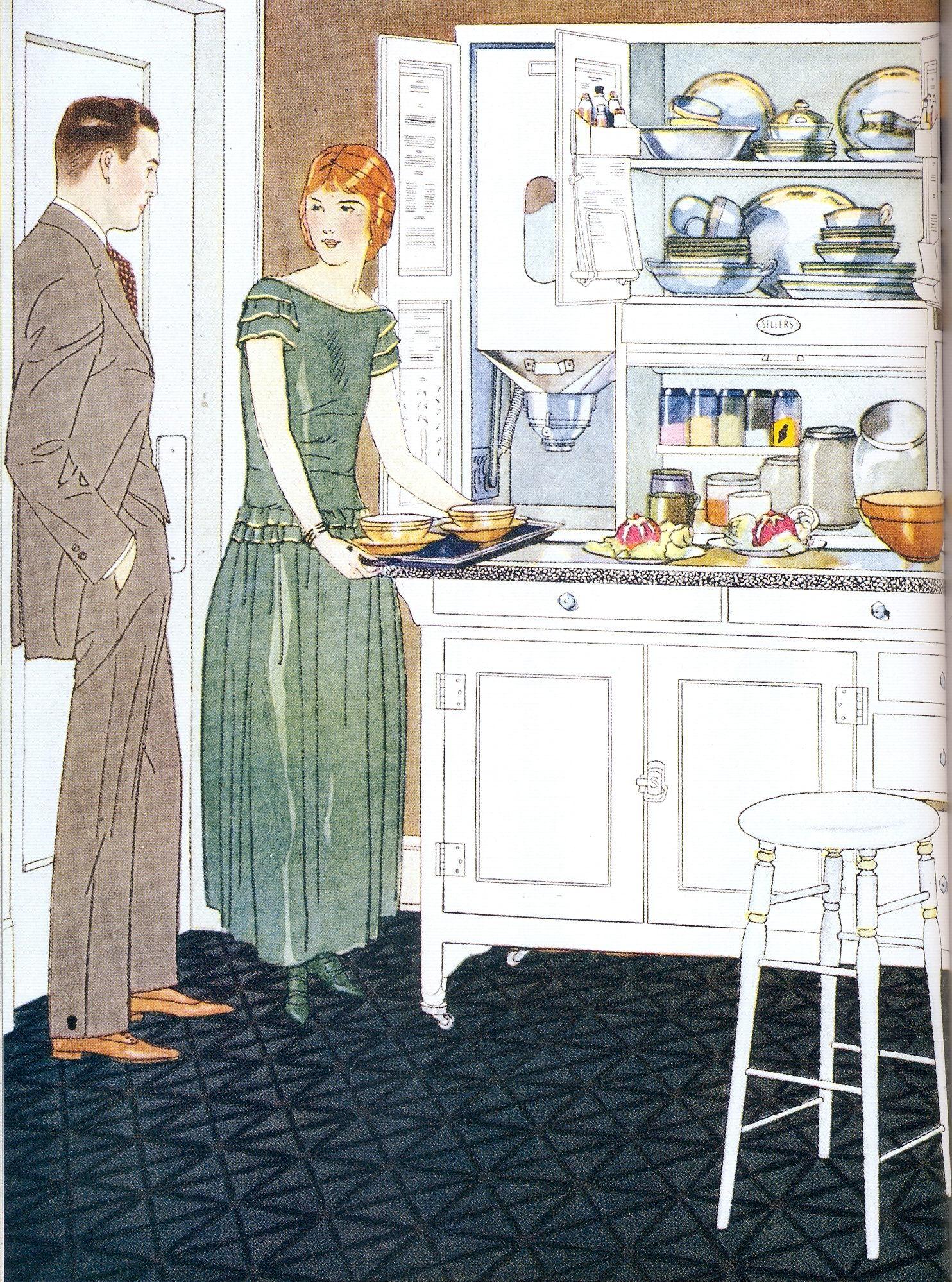 1920s kitchen - Google Search | Art deco kitchen, Vintage ...