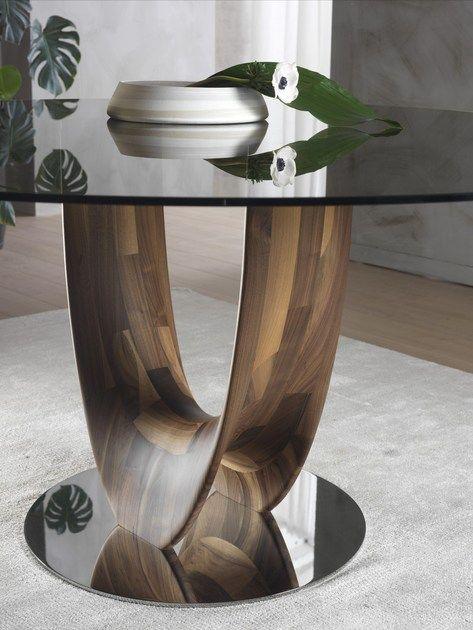 Axis Mesa Redonda By Pacini Cappellini Diseño Stefano Bigi Mesas De Comedor Mesas De Vidrio Mesas De Comedor Cuadradas