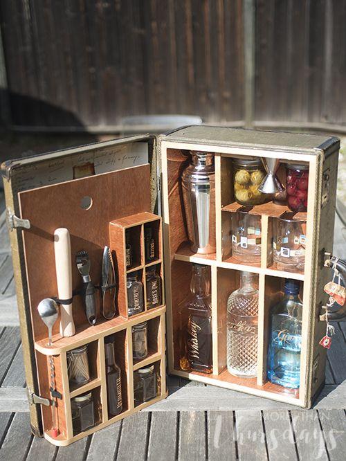 Vintage Suitcase Portable Bar Portable Bar Diy Bar Bar Furniture