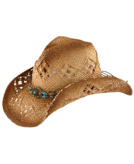 42cc262dede Scala Beaded Straw Cowboy Hat