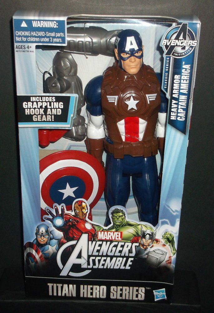 Marvel Avengers Action Figure Captain America Mighty Battlers Hasbro