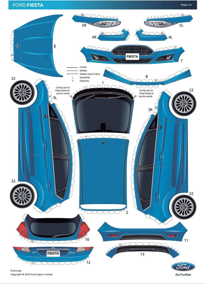Pin De Juaiza Munoz En Molde De Carro En 2020 Ford Fiesta Autos
