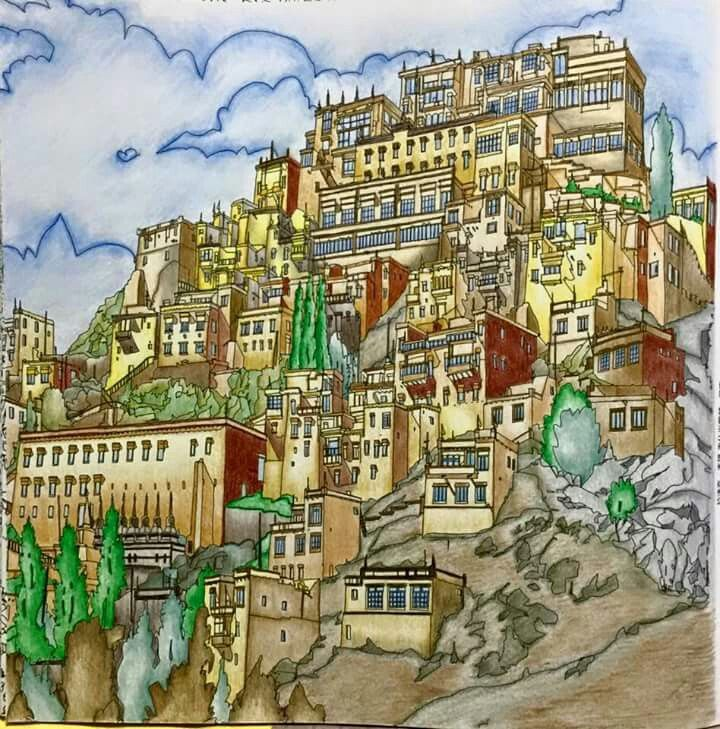 Fantastic Cities By Steve Mcdonald Fm FB Adult ColoringColoring BooksFantastic