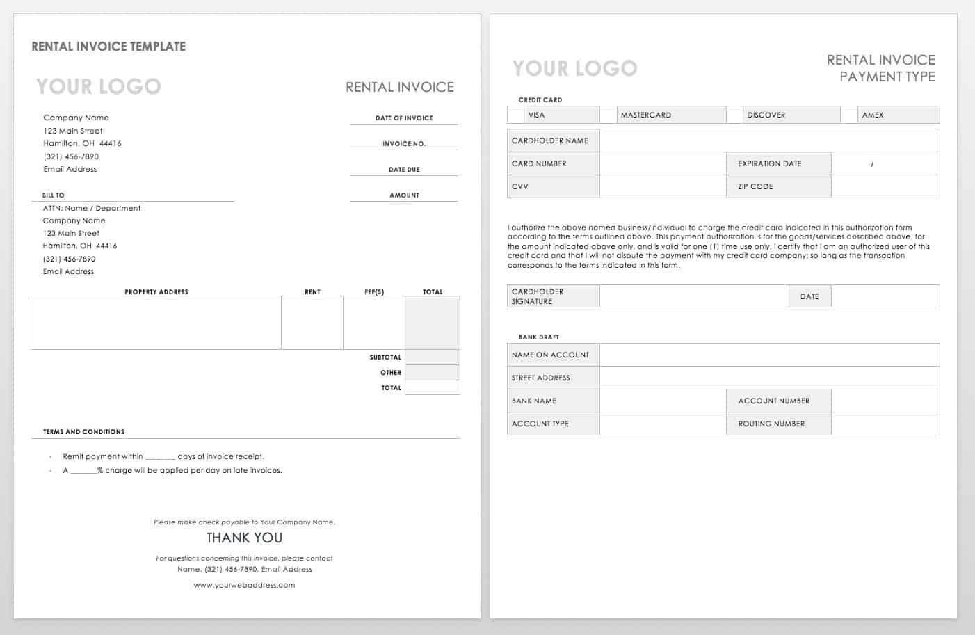 Free Ms Word Invoices Templates Smartsheet With Free Downloadable Invoice Template For Word Invoice Template Invoice Template Word Printable Invoice