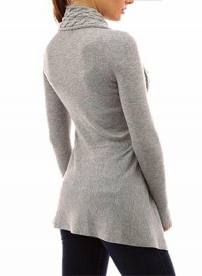 31be9a324f4 Fashion Long Sleeve Irregular Slim Fit Cardigan novashe.com