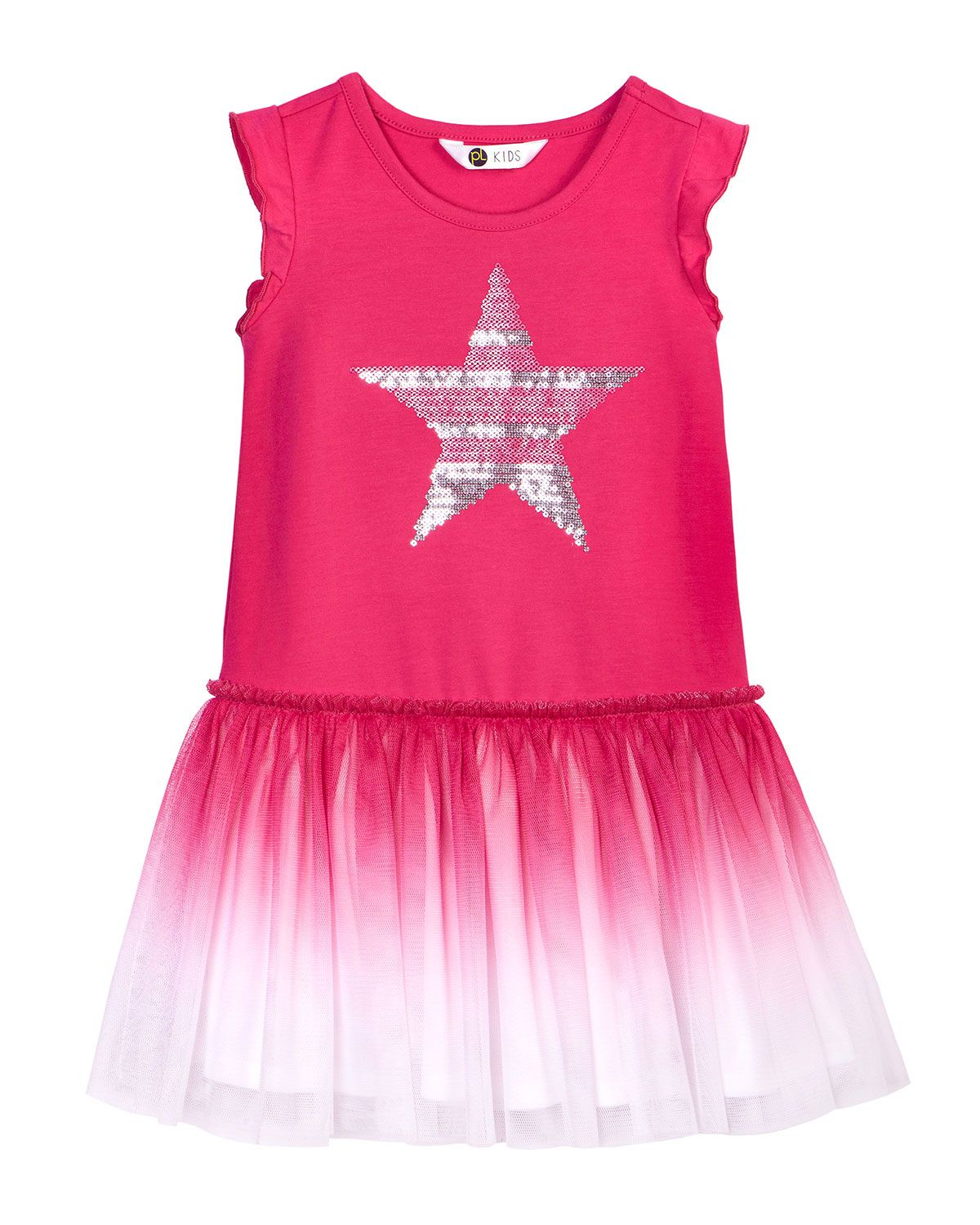 ae74a5bacdd Petit Lem Athletic Chic Sequined-Star Sleeveless Dress