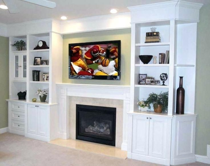 Media Wall Unit With Electric Fireplace Built Ins Entertainment
