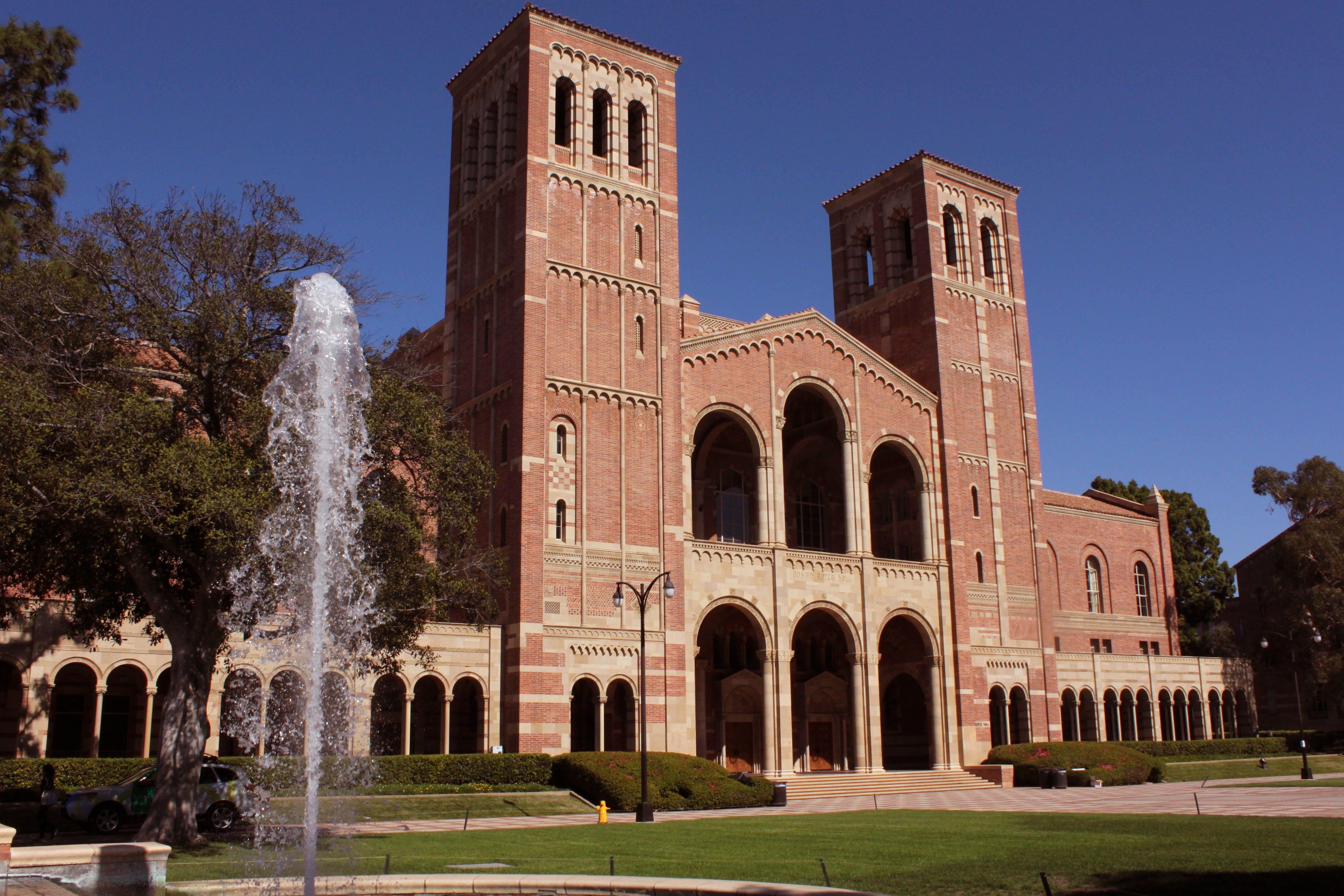 Ucla Royce Hall Ucla Campus University Of California Los Angeles University Of California