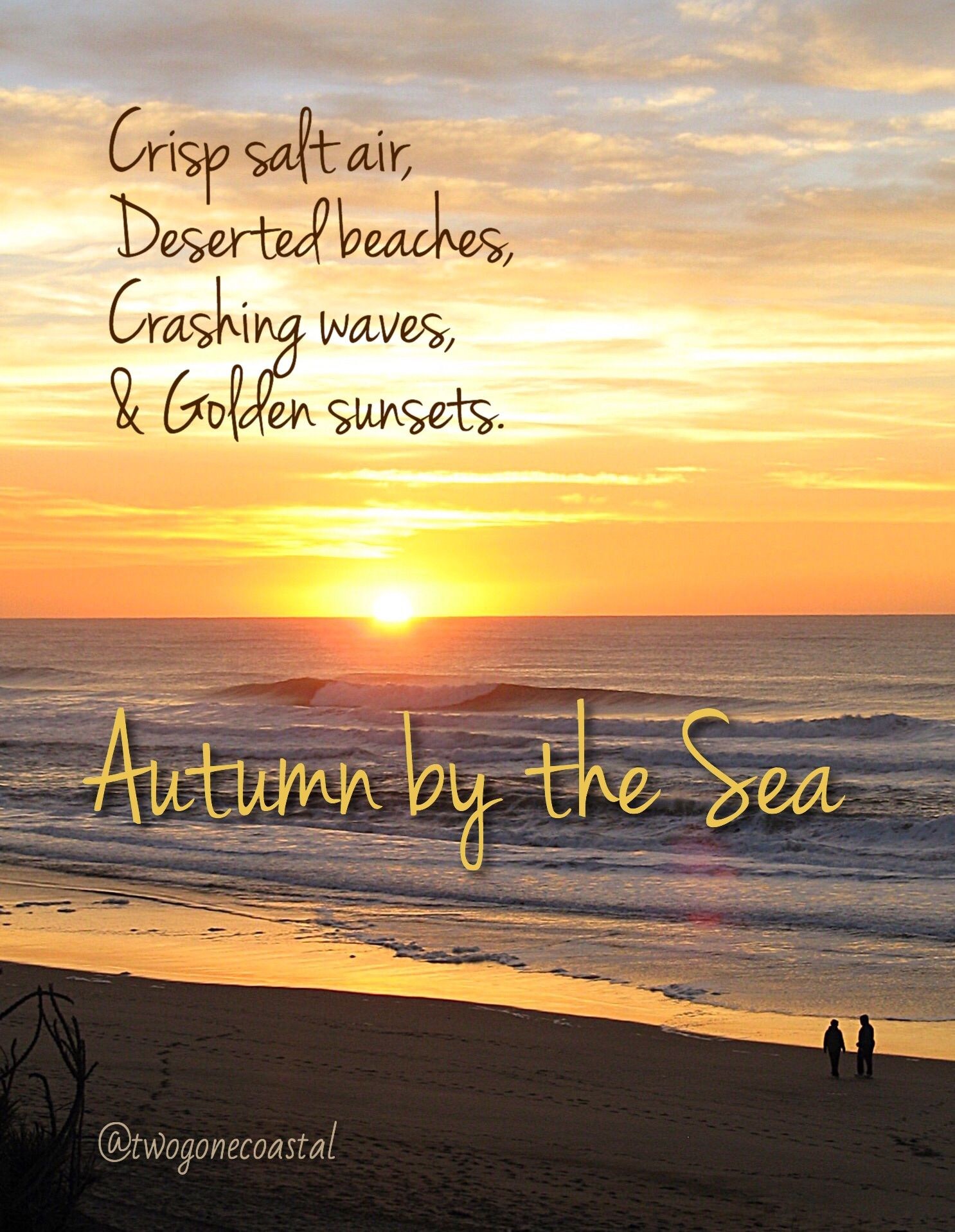 Image result for autumn on the  beach quotes