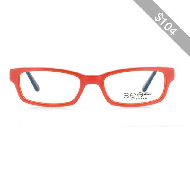 a3635958d872 SeeLine See-Line SMAC02 Red Eyeglasses