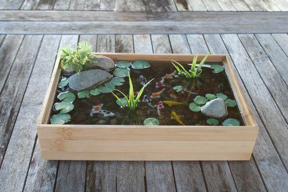 Bel étang de Koi Miniature en bambou par rezinology sur Etsy, 5800 262