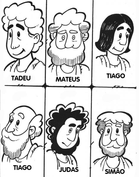 jesus and disciples coloring pages | The Twelve Apostles of Jesus ...