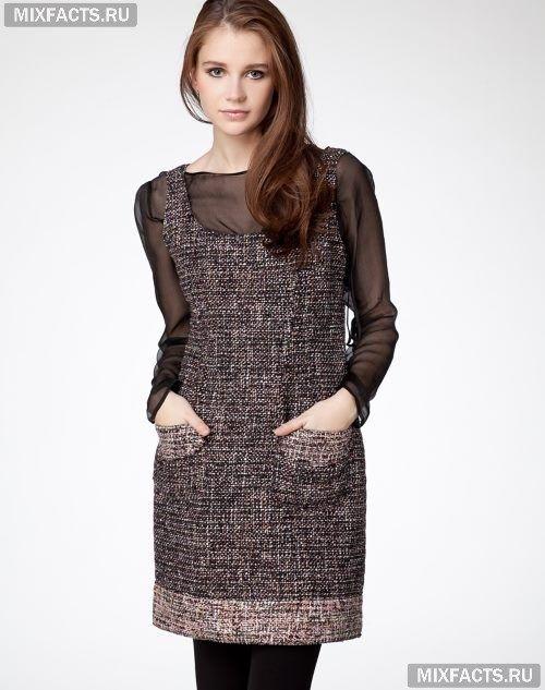 751f1c7bd695 модные зимние платья из твида без рукавов   Одежда   Dresses ...