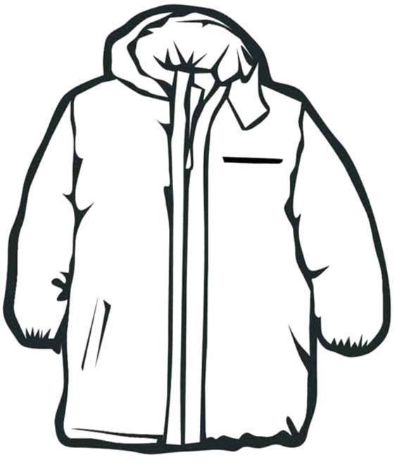 Kışlık Giysiler Boyama Sayfaları Sanat Etkinlikleri Coloring