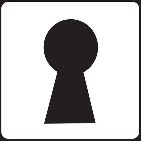 Keyhole Icon Symbol Sign Free Vector Illustration Free Icon Set Silhouette Vector