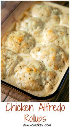 Chicken Alfredo Rollups Recipe Chicken Cream Cheese Garlic