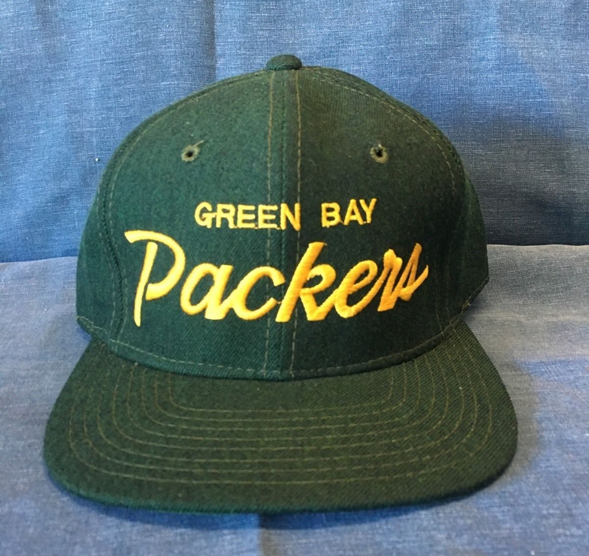 f67a428f2e7 Vintage Sports Specialties Fitted Hat Green Bay Packers 7 5 8
