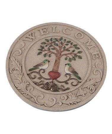 ($10) Love this 'Welcome' Tree & Bird Garden Stone on #zulily! #zulilyfinds