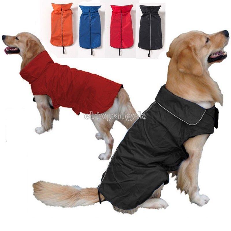 Dog Coat Jacket Raincoat Waterproof Fleece Lined Many Size Blue Red Black Yellow   eBay
