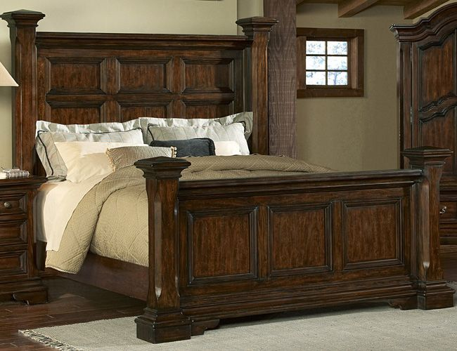PC Timber Heights Low Poster Bedroom Set By Pulaski Furniture   DC
