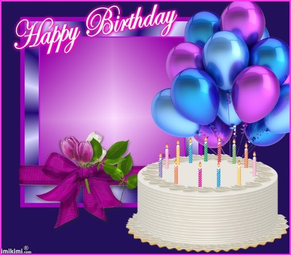 Magnificent Happy Birthday Cakes And Balloons Images Bing Images Personalised Birthday Cards Veneteletsinfo