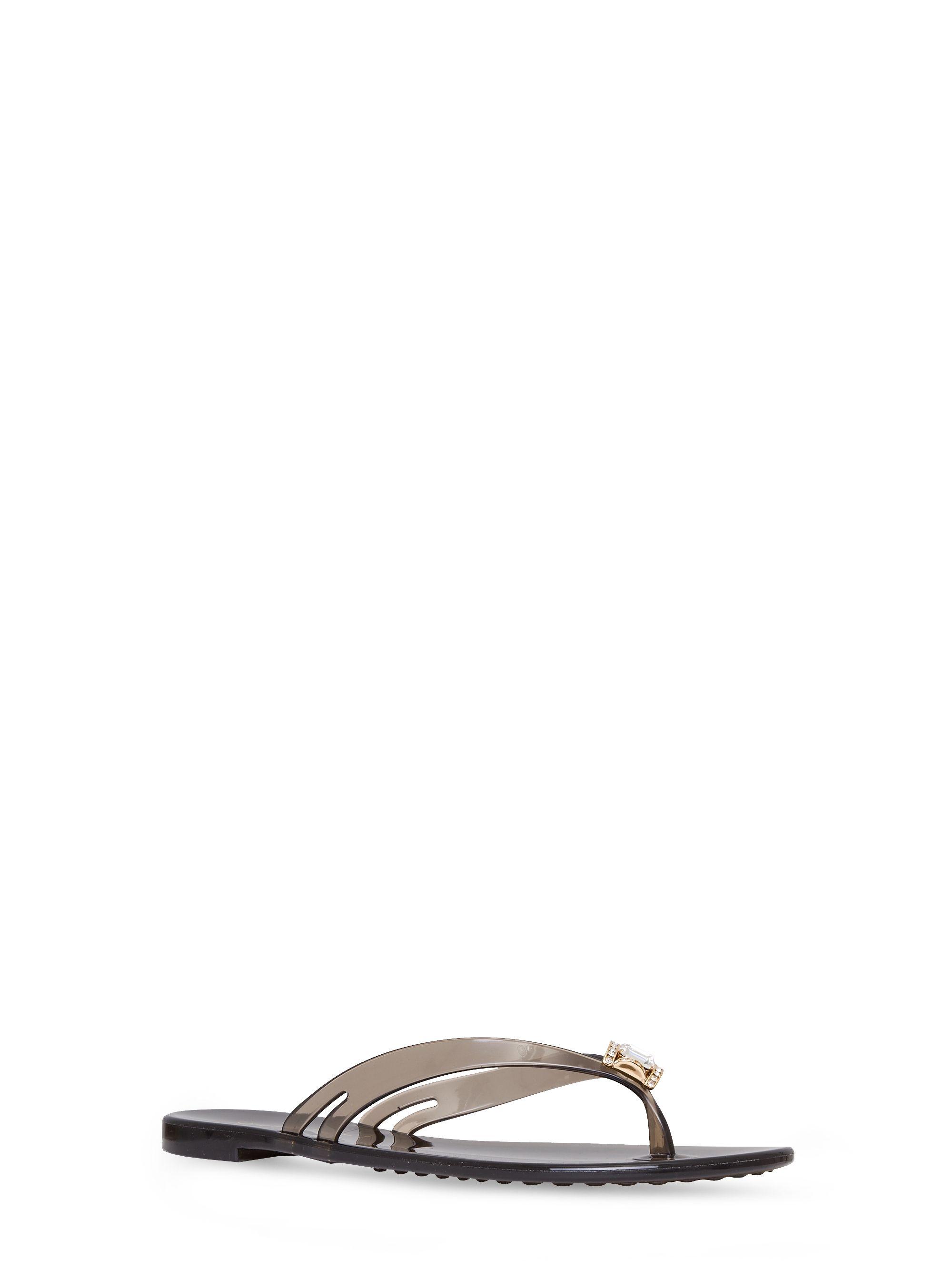 1e6d01afb Casadei - Jelly - 0179DS....BEAC000 - Infradito in luminoso PVC mandarine  con cristalli Swarovski e fondo con iconica decorazione catena. 10 mm.